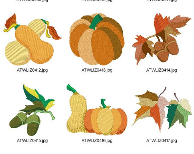 Plain-Fall-Time ( 10 Machine Embroidery Designs from ATW ) XYZ17B
