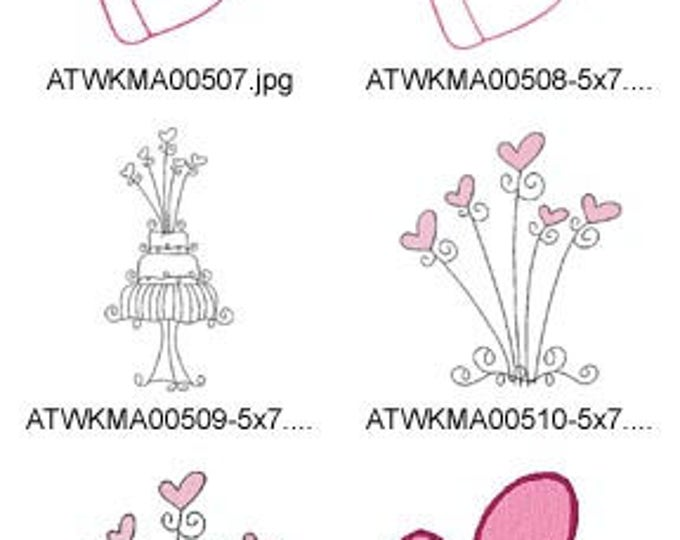 June-Bride ( 17 Machine Embroidery Designs from ATW ) XYZ17C