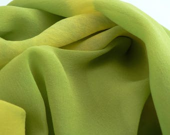 NEW! Pure Silk Georgette Scarf - 'Daffodil' - Handmade and Hand dyed