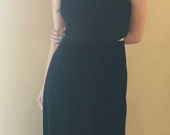 Long Black Velvet Skirt