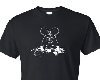 Star Wars Darth Vader With Mickey Ears T-Shirt // Darth Vader T-Shirt // Star Wars Shirts // Disney Shirts