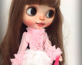 Neo Blythe Clothes - Pink and White