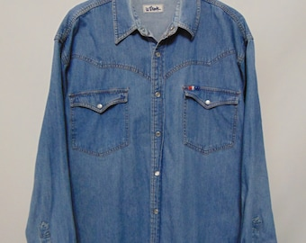 Vintage Le Shark Denim Shirt