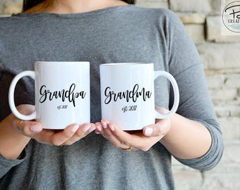 New Grandparents Gift - Grandparents Mug - New Grandma Gift - New Grandpa Gift - Father's Day - Father's Day Mug - custom coffee mug