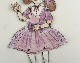 grotesque articulated paper doll - penelope