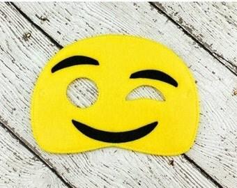 Wink Emoji Mask - Party Favor - Dress Up - Pretend Play - Halloween - Costume