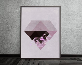 Scandinavian Modern Art Nordic Print Scandinavian Art Print Scandinavian Print Diamond Print Scandinavian Modern Art