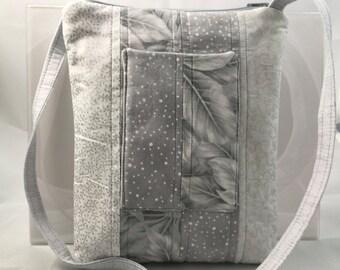 Sonoma Crossbody for women, Cellphone Pocketbook, Small Swing Shoulder Bag, mini tablet, outside pocket for phone, travel- Holiday Glitter