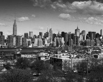Canvas, New York City NYC Skyline from Brooklyn, 2015 - Panoramic Print - Panorama Photo