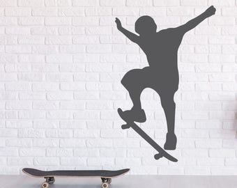 Vinyl sticker mural | decal | • Skateboarding • Skateboard sticker
