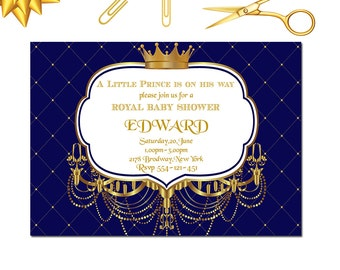 royal baby shower invitation little prince baby shower invitation royal 1st birthday invitation