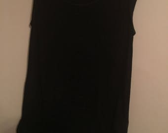 Sleeveless Black Shirt Size M/L