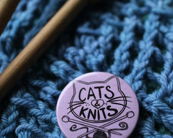 Cats & Knits*BUTTON