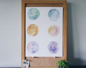 Watercolor Moon Print - Limited Run