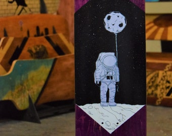 Custom Astronaut Skateboard/Longboard Cruiser Deck