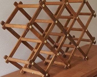 Wood Wine Rack~Accordian 8 Bottles