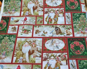 Old World Christmas-Patchwork Cotton Fabric from SPX Fabrics