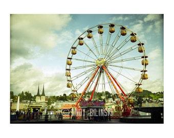Ferris Wheel, Carnival Photography Switzerland, kids room decor
