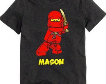 Ninjago Kai Personalized shirt