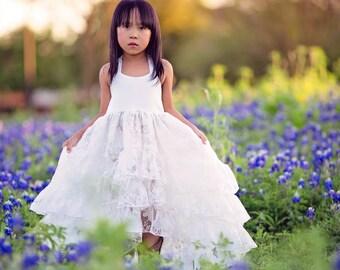 Princess Dress, Girls Couture Dress, Flower Girl Dresses, Girls Maxi Dress, Girls Boho Dress, Shabby Chic, Ruffle Dress, Photography Dress