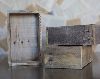 Wooden Reclaimed Salvaged Pallet Wood Box