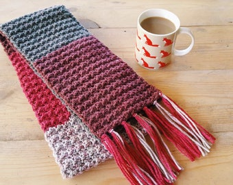 Handmade Woollen Crochet Scarf