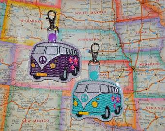 Hippie Bus/ Peace Van Keychain