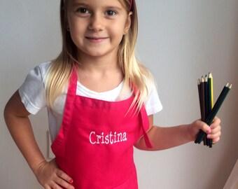 Kids Apron, Kids Art Smock, Kids Chef Apron, Pre K Art Smocks, Art Parties, Cooking Parties, Boy Girl Birthday Gifts, Easter Basket Stuffers
