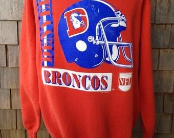 Vintage 1990 Denver Broncos sweatshirt - Large / XL - Logo 7
