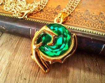 Legend of Zelda Emerald Spirit Stone Keychain Necklace Pendant