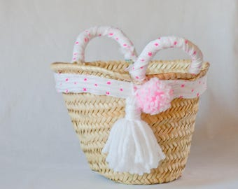 Small basket children PomPoms