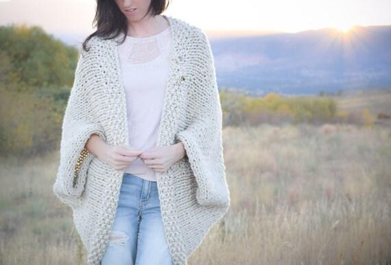 Knit Sweater Pattern, Knit Blanket Sweater, Knitting Pattern Shrug, Knitting Pattern Easy, Knitting Pattern White, Easy Cardigan