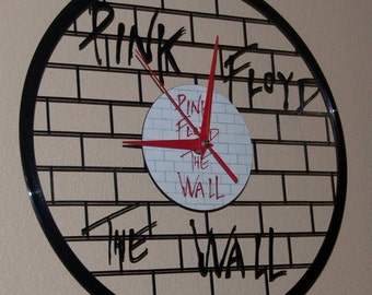 Pink Floyd themed Vinyl Album Record Clock made in the > USA < with FREE Shipping!