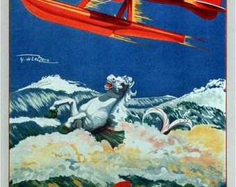Vintage 1927 Schneider Trophy Aviation Poster  A3 Print
