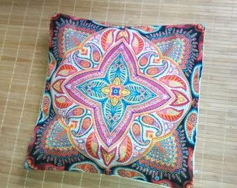 hippie cushion stamp / funda cojín mandala / indian pillow case