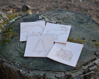Country Cabin Style Coasters