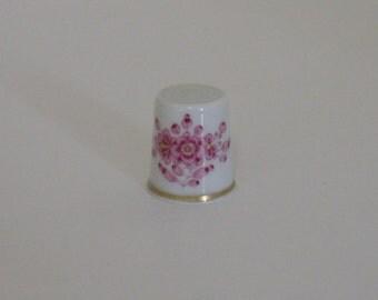 Hand painted porcelain thimble