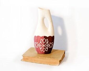 Southwestern Vase, Stem Vase by BigMuddyVintageShop