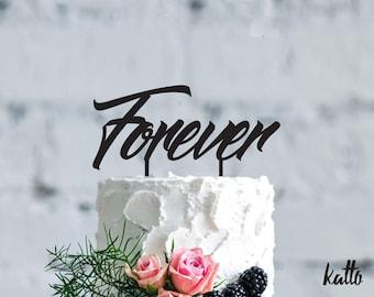 Wedding cake topper- Customizable wedding cake topper- Personalized cake topper-Personalized wedding Cake Topper- Custom Forever cake topper