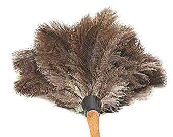 AAYU's Longest Premium Professional Feather Duster | Natural Duster for Cleaning and Feather Moping | Genuine Duster with Wooden Handle