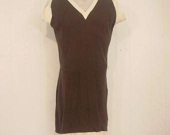 Vintage swimsuit, 1900s bathing suit, Victorian suit, Edwardian swimsuit, vintage clothing, large