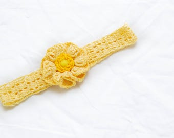 Summer floral headband for baby girl