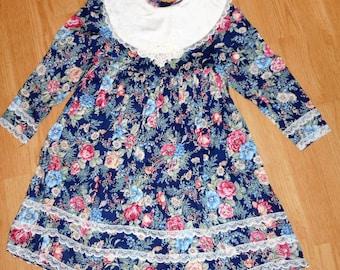 Vintage Eighties Jessica McClintock Gunne Sax Girls Dress Size 6X