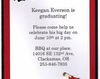 Graduation Party Invitations - Set of 12