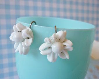 Milk Glass Earrings