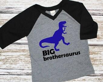 Big Brother Shirt, Big Brothersaurus Dinosaur Shirt, Big Brother Announcement shirt