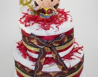 Wonder Woman Diaper Cake