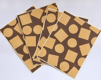 Modern collage stationery set: playful shapes and minimal design