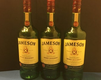3 1L Jameson Irish whiskey bottles empty