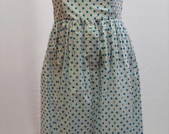 Polka dot 50s style dress and jacket. Hand made with boned bodice